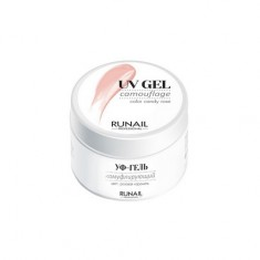 ruNail, Камуфлирующий UV-гель, розовая карамель, 56 г