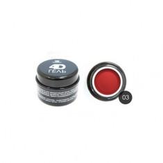 TNL, 4D-гель для дизайна ногтей №3, красный TNL Professional
