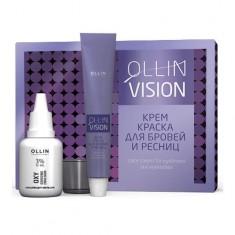Оллин/Ollin Professional VISION SET black Крем-краска для бровей и ресниц 20мл