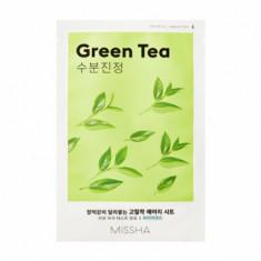 Маска тканевая успокаивающая с зеленым чаем MISSHA Airy Fit Sheet Mask Green Tea