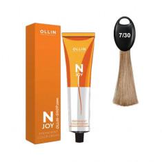 Ollin N-JOY 7/30 русый золотистый перманентная крем-краска для волос 100мл OLLIN PROFESSIONAL