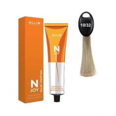 Ollin N-JOY 10/32 светлый блондин золотисто-фиолетовый перманентная крем-краска для волос 100мл OLLIN PROFESSIONAL