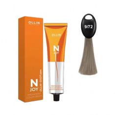 Ollin N-JOY 9/72 блондин коричнево-фиолетовый перманентная крем-краска для волос 100мл OLLIN PROFESSIONAL