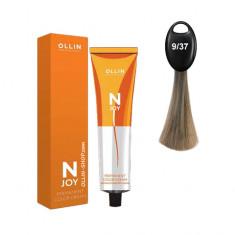 Ollin N-JOY 9/37 блондин золотисто-коричневый перманентная крем-краска для волос 100мл OLLIN PROFESSIONAL