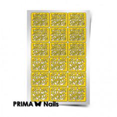 Prima Nails, Трафареты «Лепестки», золотые