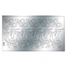 Freedecor, Металлизированные наклейки №221, серебро