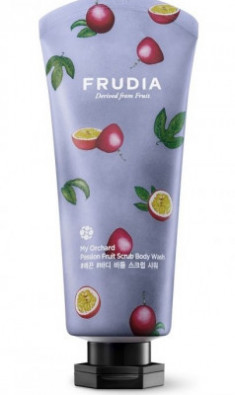 Гель-скраб для душа с маракуйей Frudia My Orchard Passion Fruit Scrub Body Wash 200 мл