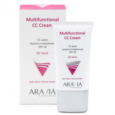 CC-крем защитный SPF20 Aravia professional Multifunctional CC Cream Sand 02 50мл