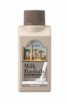 Гель для душа с ароматом белого мыла Milk Baobab Body Wash White Soap Travel Edition 70мл