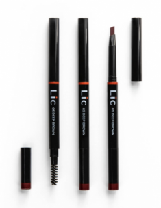 Карандаш механический для бровей с треугольным грифелем Lic Mechanical eyebrow pencil 05 Deep brown